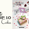 Top 10 Cookies Banner: Cookies and Photo by Andrea Costoya; Graphic Design by Julia M Usher
