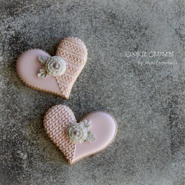 #6 - Heart Crochet Cookies by mintlemonade (cookie crumbs)