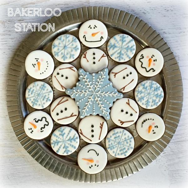 Simple Silly Snowman Platter | Bakerloo Station