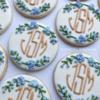 Elegant Monogram Cookies: Cookies and Photo by Coastal Cookies