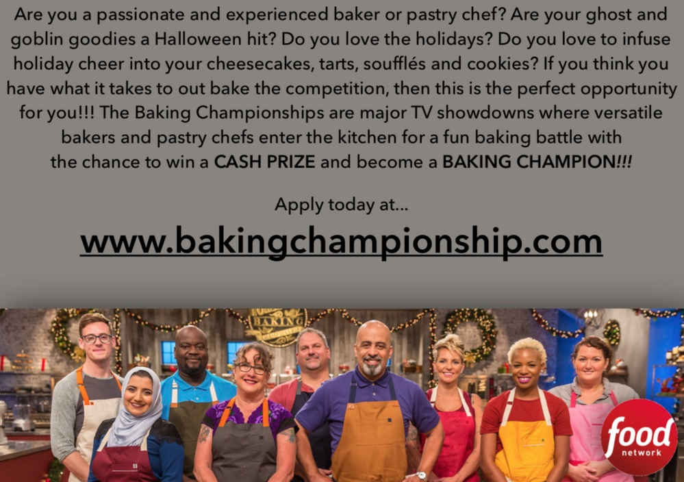 Food Network Now Casting for Two Baking Shows | Cookie