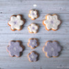 Purple Flowers - Anne's First Cookies!: Cookies and Photo by Anne Lindemann