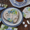 Julia's Vintage Tea Dynamic Duos Sets in Action!: Cookies and Photo by Julia M Usher; Stencils Designed by Julia M Usher in Partnership with Confection Couture Stencils