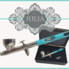 New JULIA Dual-Action Airbrush: Photos Courtesy of Badger Air-Brush Co.; Graphic Design by Julia M Usher