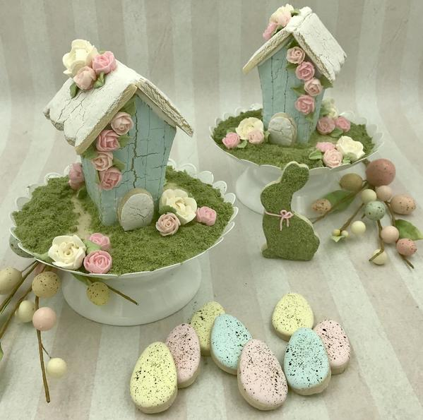 #9 - Easter Birdhouses by Cookies by Brooke