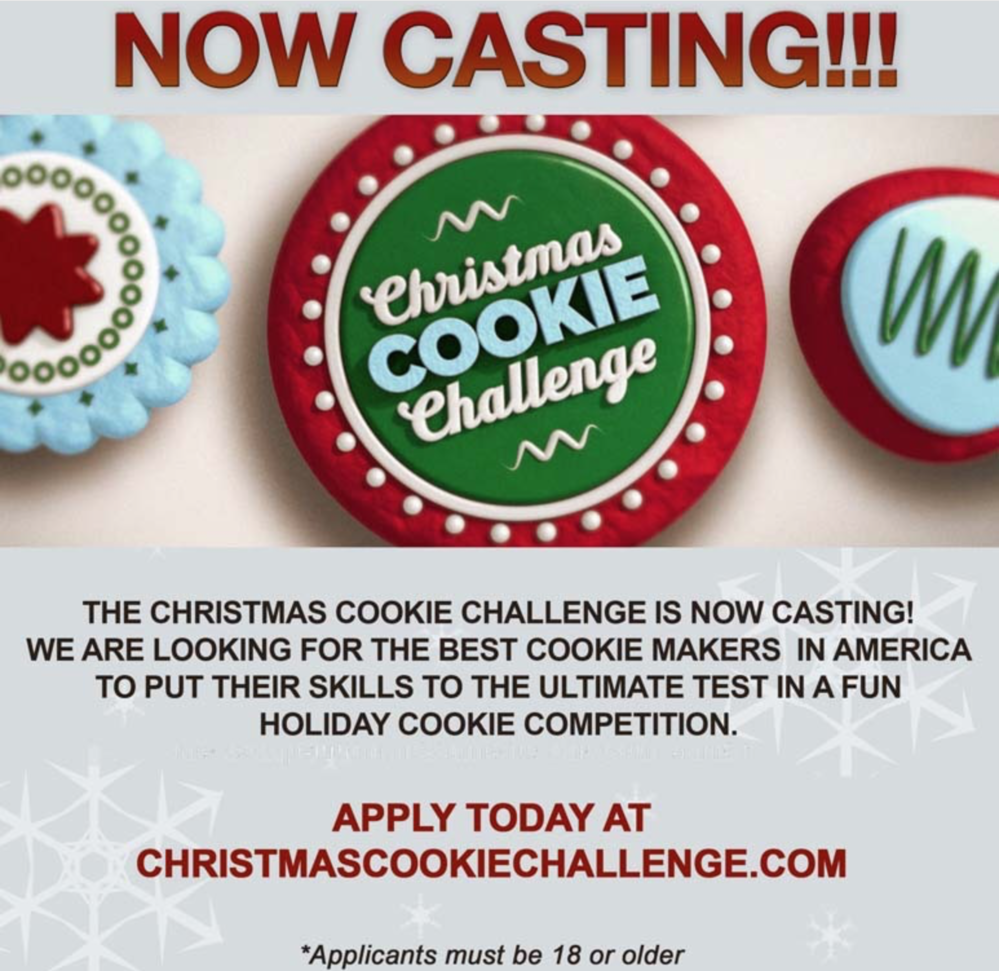 Casting Call For 2018 Food Network Christmas Cookie Challenge