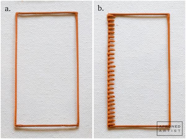 Tray Steps a, b: Begin Basketweave