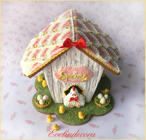 #2 - Easter Cookie House by Evelindecora