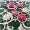 Water Lily Cookies for Practice Bakes Perfect Challenge: Design, Cookies, and Photo by Manu