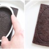 Step 1a - Make Oval Impression in Cookie: Cookie and Photos by Aproned Artist