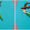 Step 2e - Pipe Tail and Fins: Cookie and Photos by Aproned Artist
