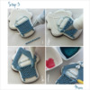 Steps 3i to 3l - Decorate Cupcake Cookie (Bassinet Only): Design, Cookie, and Photos by Manu