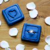 Final Wedding Ring Set: Cookies and Photo by Aproned Artist