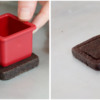 Step 2a - Make Square Impression in Cookie: Cookie and Photos by Aproned Artist