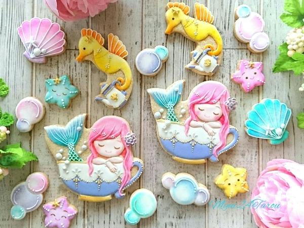 #2 - Mermaid's Bath Time Cookie Set by myui