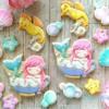 #2 - Mermaid's Bath Time Cookie Set: By myui