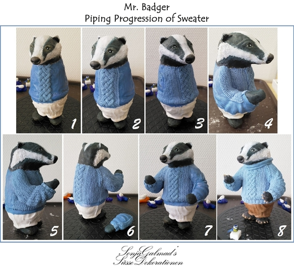 Mr. Badger_piping_progression