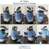 Mr. Badger's Sweater Piping Progression: Cookie Figurine and Photos by Sonja Galmad