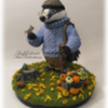 Mr. Badger: Cookie Figurine and Photo by Sonja Galmad