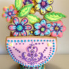 3-D Stenciled Basket Cookie: By Adria