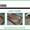 Dough Sticks and How They Work: Graphic and Photos Courtesy of Tina Shedd of telebaker.com