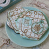Both Seas the Day Dynamic Duos Sets in Use - Two Colors Only: Cookies and Photo by Julia M Usher; Stencils Designed by Julia M Usher in Partnership with Confection Couture Stencils