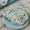 Both Seas the Day Dynamic Duos Sets in Use - Three Colors Now!: Cookies and Photo by Julia M Usher; Stencils Designed by Julia M Usher in Partnership with Confection Couture Stencils