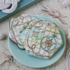 Both Seas the Day Dynamic Duos Sets in Use - Three Colors and Knot!: Cookies, Knots, and Photo by Julia M Usher; Stencils Designed by Julia M Usher in Partnership with Confection Couture Stencils