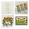 Sunflower Cookie Variations: Designs, Cookies, and Photos by Manu