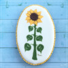 Wet-on-Wet Sunflower Cookie - All Done!: Design, Cookie, and Photo by Manu