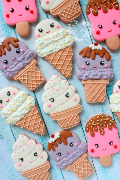 #2 - Ice Cream Cone Cookies by Cookieland