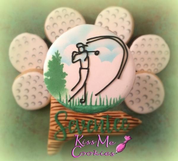 #9 - Golf Cookies by Kiss Me Cookies