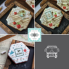 Julia's July 2018 Stencil Releases: Cookies and Photos by Julia M Usher; Stencils Designed by Julia M Usher in Partnership with Confection Couture Stencils