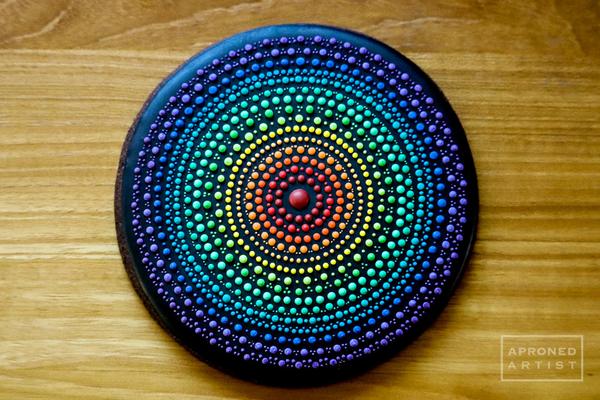 #2 - Rainbow Mandala by Aproned Artist