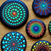 Final Mandala Set: Cookies and Photo by Aproned Artist