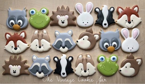 #5 - Little Woodland Creatures by The Vintage Cookie Jar
