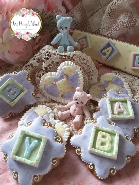#9 - Baby Blocks and Stitched Bears by Teri Pringle Wood