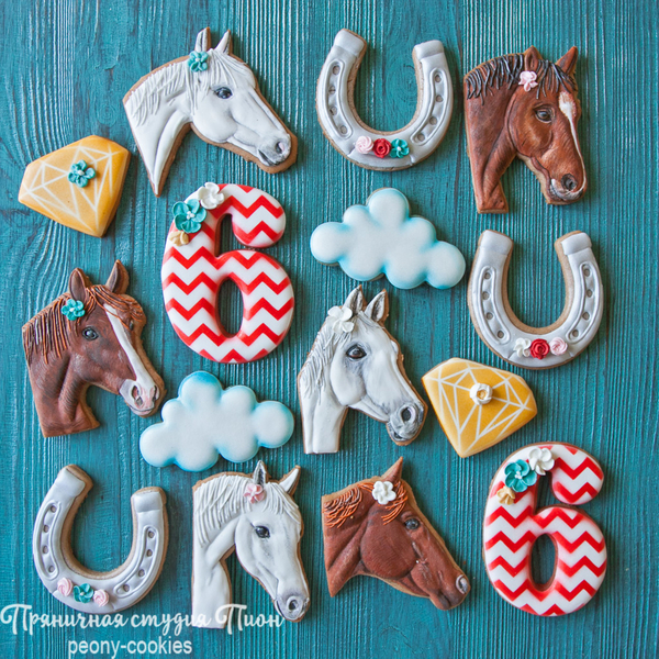 #7 - Horse Birthday Cookie Set by Anastasia - Peony Cookies