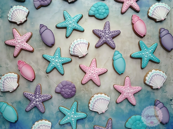 #5 - Starfish and Shell Cookies by Gingerland