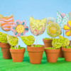 Whimsical Flower Pot Cookies: Cookies and Photo by Autumn Carpenter