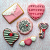 Airbrushed and Stenciled Cookies for Valentine's Day: Cookies and Photo by Berni Solti