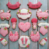 Airbrushed and Stenciled Baby Shower Cookies: Cookies and Photo by Berni Solti