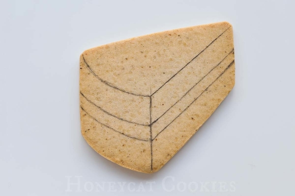 Cake Slice Cookie Template