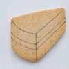 Step 5 - Cake Slice Cookie Guidelines: Cookie and Photo by Honeycat Cookies