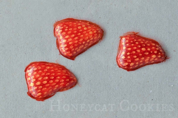 Royal Icing Strawberry Slices Painting