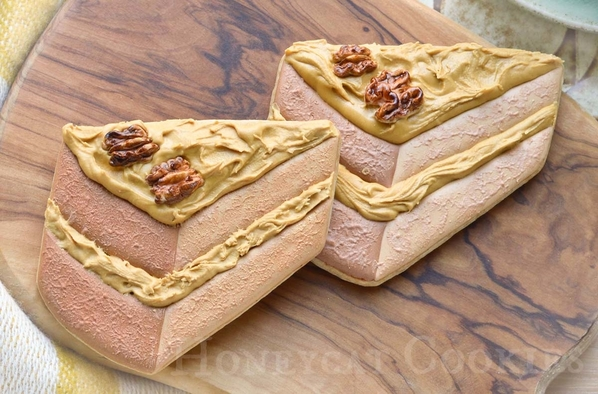 Coffee and Walnut Cake Slice Cookies