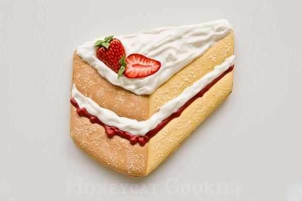 Victoria Sponge Cake Slice Cookie