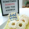Donut Cookies with Stenciled Message: Cookies and Photo by Hillary Ramos, The Cookie Countess