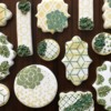 Stenciled Succulent Cookies: Cookies and Photo by Hillary Ramos, The Cookie Countess
