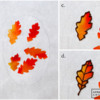 Steps 3b, 3c, and 3d - Arrange Leaves and Pipe Leaf Details: Photos by Aproned Artist